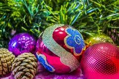Weihnachten, Hintergrund des neuen Jahres Lizenzfreies Stockbild