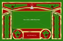 Weihnachten 1 Hintergrund-Rahmen Stockbild