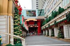 Weihnachten in Hong Kong. Stockfotografie