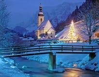 Weihnachten im Bayern, Deutschland lizenzfreies stockbild
