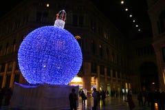 Weihnachten im Blau Lizenzfreie Stockfotografie