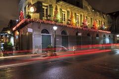 Weihnachten im Viertel stockbild
