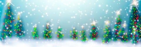 Weihnachten im Wald lizenzfreie abbildung