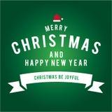 Weihnachten ist Emblemthema Dekorationselemente Lizenzfreies Stockfoto