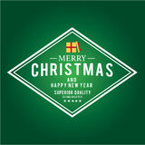 Weihnachten ist Emblemthema Dekorationselemente Stockbilder