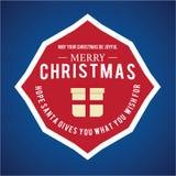 Weihnachten ist Emblemthema Dekorationselemente Lizenzfreies Stockbild