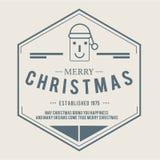 Weihnachten ist Emblemthema Dekorationselemente Lizenzfreie Stockfotos