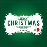 Weihnachten ist Emblemthema Dekorationselemente Stockfotos
