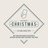 Weihnachten ist Emblemthema Dekorationselemente Lizenzfreie Stockbilder