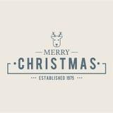Weihnachten ist Emblemthema Dekorationselemente Stockfotografie