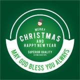 Weihnachten ist Emblemthema Dekorationselemente Stockfoto