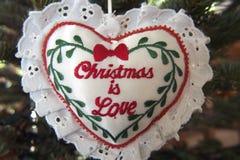 Weihnachten ist Liebe Lizenzfreies Stockbild