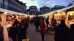 Weihnachten klemmt Markt fest stock video
