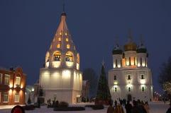 Weihnachten in Kolomna Stockbild