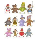 Weihnachten kostümiert Kinder Lizenzfreie Stockfotografie