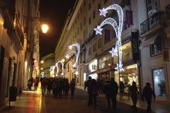 Weihnachten in Lissabon Lizenzfreies Stockfoto
