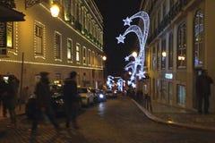 Weihnachten in Lissabon Stockbild