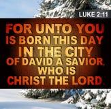 Weihnachten-Luke-2:11 Lizenzfreies Stockfoto