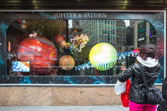 Weihnachten Macys NYC Stockbilder