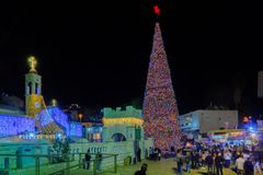 Weihnachten 2017 in Mary Well-Quadrat, Nazaret Stockfotos