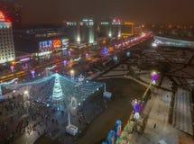 Weihnachten Minsk, Weißrussland stockfotografie