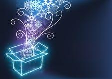 Weihnachten mit Geschenk-Kasten stock abbildung