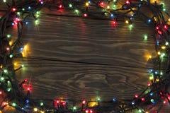 Weihnachten mit Lichtern Stockfotografie