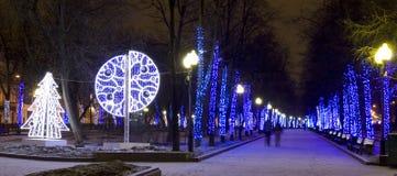 Weihnachten Moskau Stockfotografie