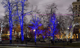 Weihnachten Moskau Stockbild