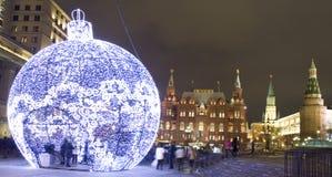 Weihnachten Moskau Stockfoto