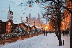 Weihnachten in Moskau Neues Jahr stockfotos