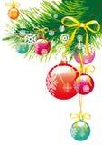 Weihnachten, neues Jahr, Hintergrundvektor Lizenzfreies Stockfoto