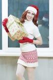 Weihnachten, neues Jahr, Weihnachtskonzepte und Feiern Junges Cauc Stockfotografie