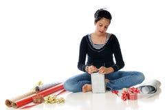 Weihnachten oben einwickeln Lizenzfreie Stockfotografie