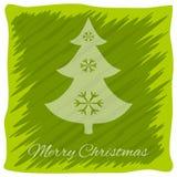 Weihnachten- oder neues Jahr ` s Grußkarte Vektorlogo, Emblemdesign Hellgrüne Streifen unvorsichtig gemalt Transparentes Schatten Stockfoto