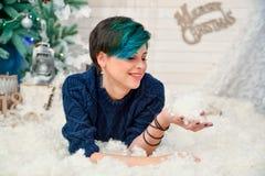 Weihnachten-photoscene, frohe Weihnachten lizenzfreies stockfoto
