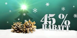Weihnachten-pinecone Baum 45 Prozent Rabatt-Rabatt Stockfoto