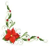 Weihnachten, Poinsettia, Stechpalme Lizenzfreie Stockbilder