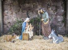 Weihnachten, Portal de Belen, Geburt Stockbilder