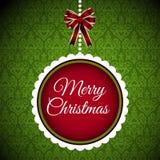 Weihnachten-postacrd Fahne froher Weihnachten   Stockfotos