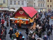 Weihnachten in Prag lizenzfreie stockbilder