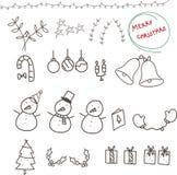Weihnachten s eigenhändig zeichnend lizenzfreie abbildung
