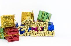 Weihnachten Sankt Lokalisiert über weißem Hintergrund stockfoto