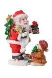 Weihnachten Sankt und carring Geschenke des Sankt-Schätzchens Stockfotografie