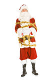 Weihnachten: Santa Claus Tied Up With Tinsel Lizenzfreies Stockfoto
