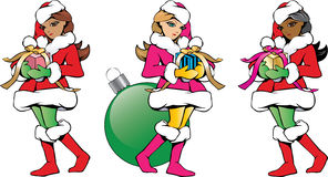 Weihnachten Santa Helpers Variety Lizenzfreies Stockfoto
