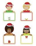Weihnachten scherzt Holdingzeichen Lizenzfreie Stockfotografie