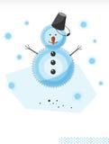 Weihnachten. Schneemann A vektor abbildung