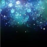 Weihnachten-snowflkes Hintergrund Stockfotografie