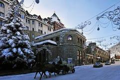 Weihnachten in St Moritz Stockfotografie